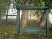 Bench Swings in Fog
