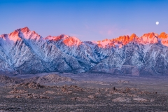 Alpenglow on the Eastern Sierra