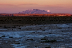 Moonrise Over Navajo Mountain