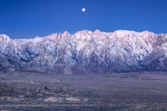 Moonset Over the Eastern Sierra