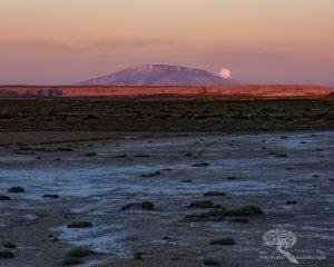 Moonrise over Navajo Mountain