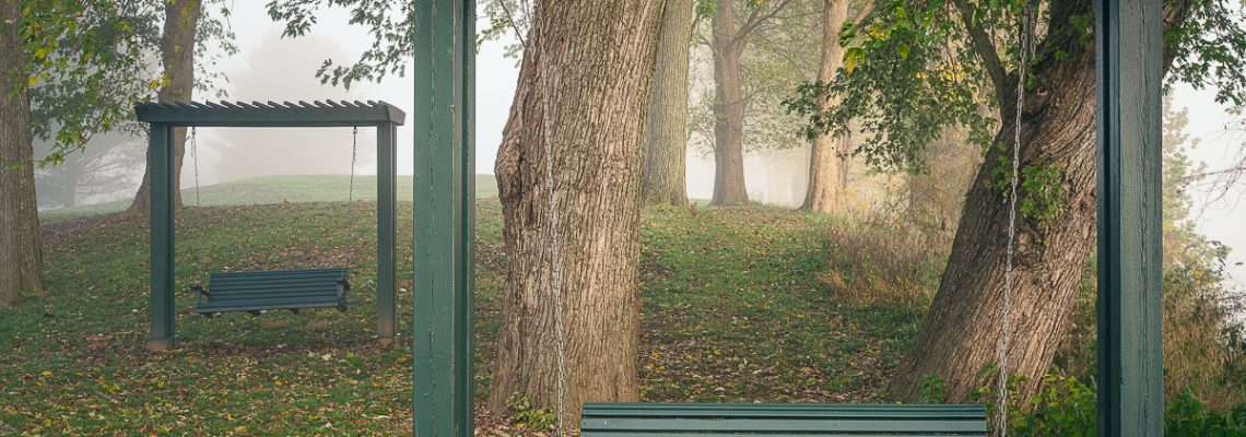 Bench Swings in Lifting Fog