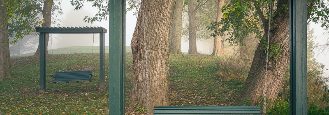 Bench Swings in Lifting Fog
